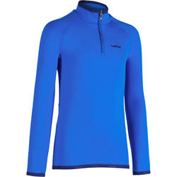 Children's Skiing Base-Layer top Freshwarm 1/2 Zipper Blue