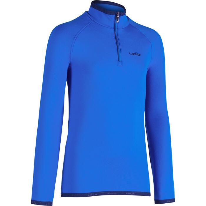 Sous-vêtement haut de ski enfant Freshwarm 1/2 ZIP Bleu