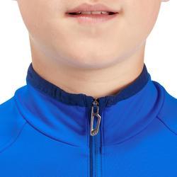 Camiseta de esquí júnior Freshwarm 1/2 cremallera azul