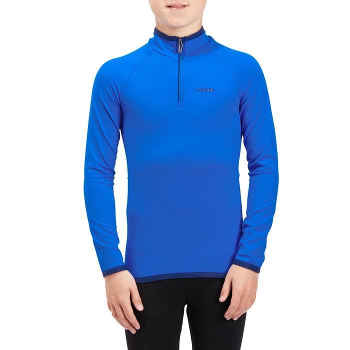 Thermoshirt voor skiën kinderen Freshwarm 1/2 rits blauw