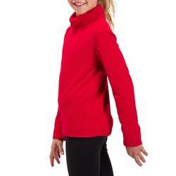 Camiseta Térmica Interior Nieve y Esquí Wed'ze 2Warm Niños Rojo Cereza