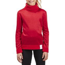 Kinder thermoshirt voor skiën 2Warm rood