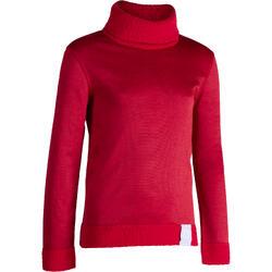 Camiseta Interior Térmica de Esquí Wed'ze 2Warm Niños Rojo