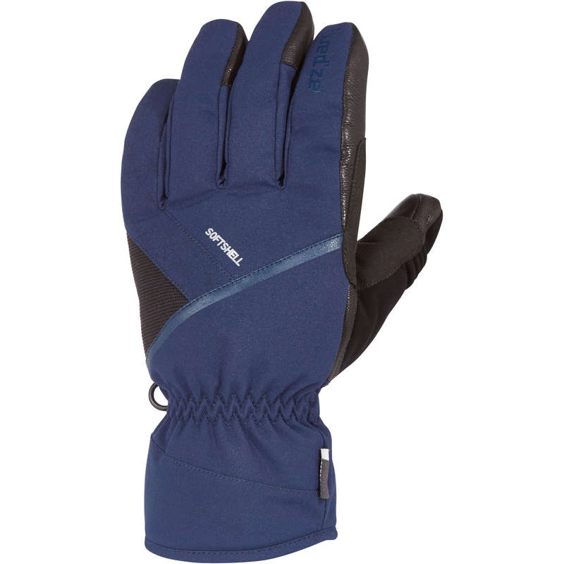 ADULT ON PISTE SKIING GLOVES Skiing - ADULT D-SKI GLOVES 500 - BLUE WEDZE - Ski Wear