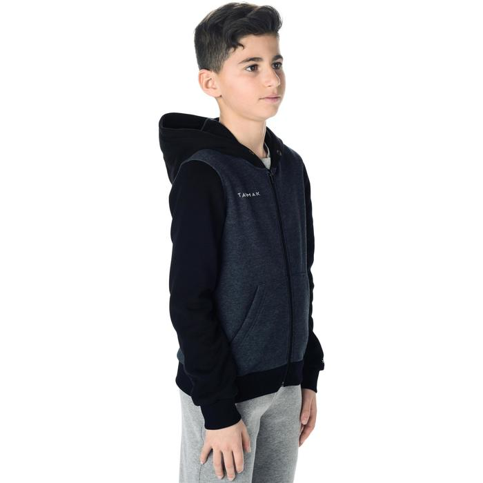 Boys'/Girls' Beginner Basketball Jacket J100 - Black/Grey