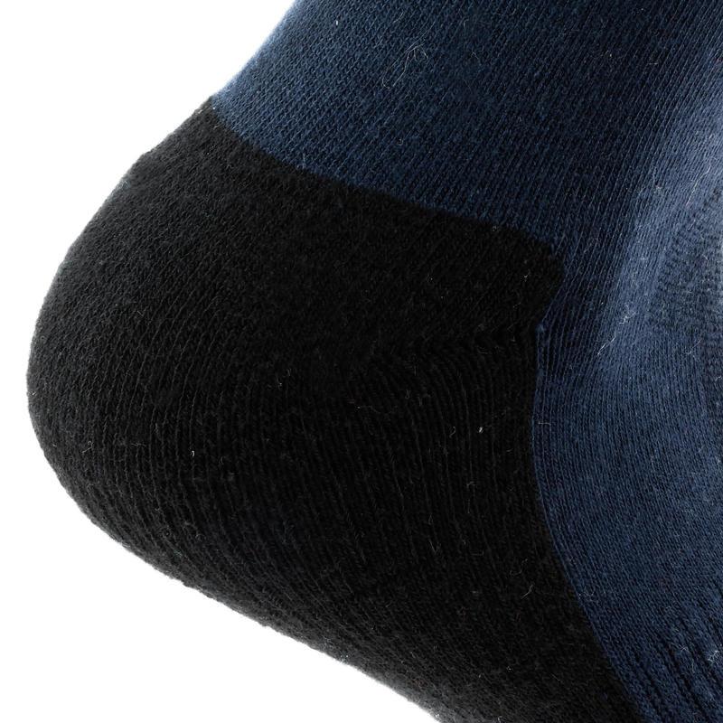Arpenaz 50 Mid adult lowland hiking socks 2 pairs - dark blue