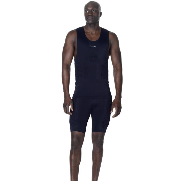 Beschermende basketbal ondershort voor heren, gevorderden, Tarmak zwart