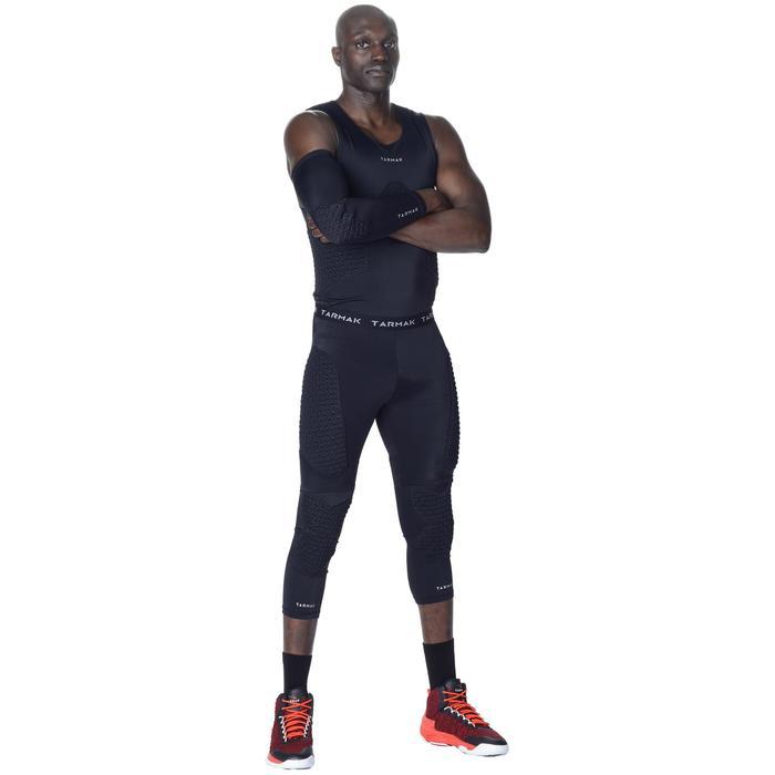 Beschermende basketbal armsleeve voor gevorderde volwassenen zwart