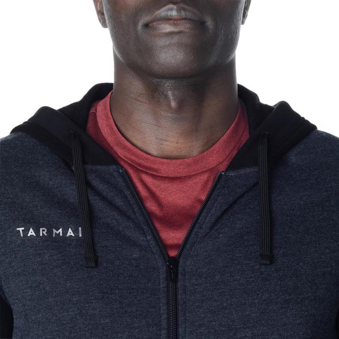 Trainingsjacke mit Kapuze Basketball J100 Herren Einsteiger dunkelgrau/schwarz