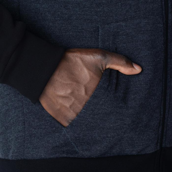 Beginner Hooded Zip-Up Basketball Jacket - Dark Grey/Black