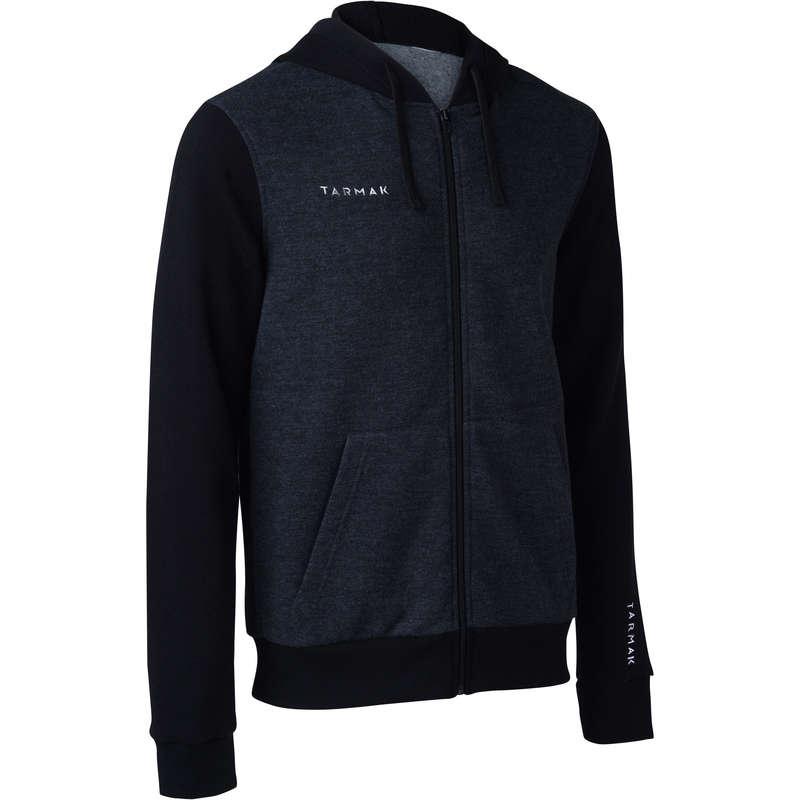 MAN BASKETBALL OUTFIT Basketball - J100 Hooded Jacket Grey/Black TARMAK - Basketball Clothes