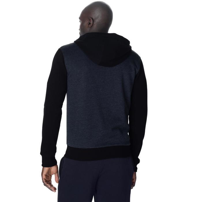 Chaqueta de Chándal Baloncesto Tarmak Hombre Con capucha Negro/Gris