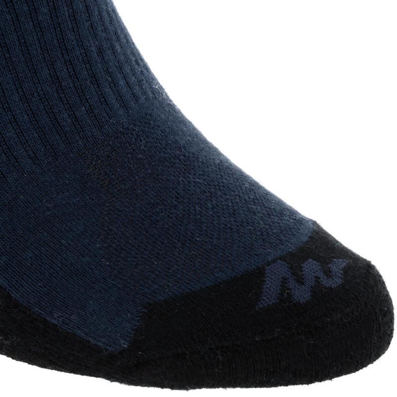 Teget srednje visoke čarape za planinarenje NH100 (2 para)