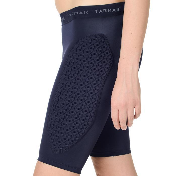 Pantalón Corto Interior Protección Balonceto Tarmak USHP500 F Mujer Negro