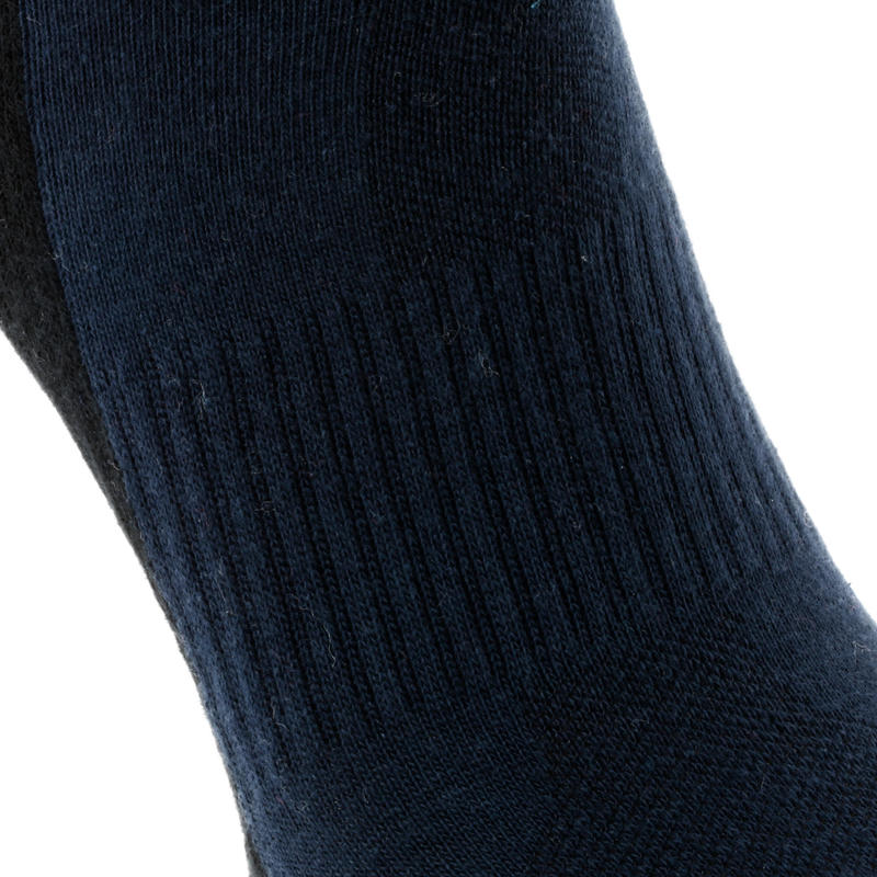 NH100 Country Walking Socks Mid x 2 Pairs - Navy Blue