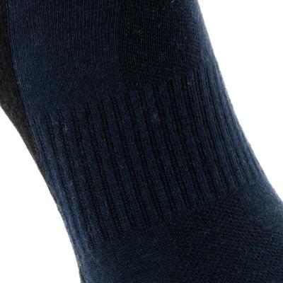 Шкарпетки середньої висоти для хайкінгу. Arpenaz 50, 2 пари - Темно-сині