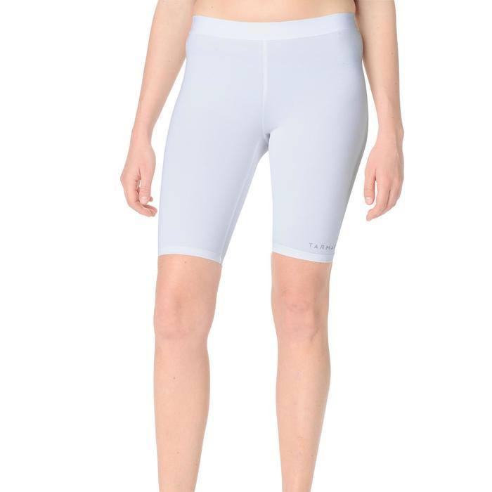 Pantalón Corto Interior Térmico Baloncesto Tarmak USH500 Mujer Blanco