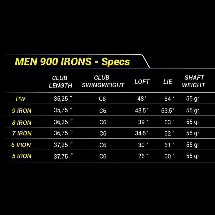 Série de fers golf homme droitier 900 5/PW graphite R - 1218070