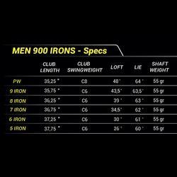 Série de fers golf homme droitier 900 5/PW graphite R