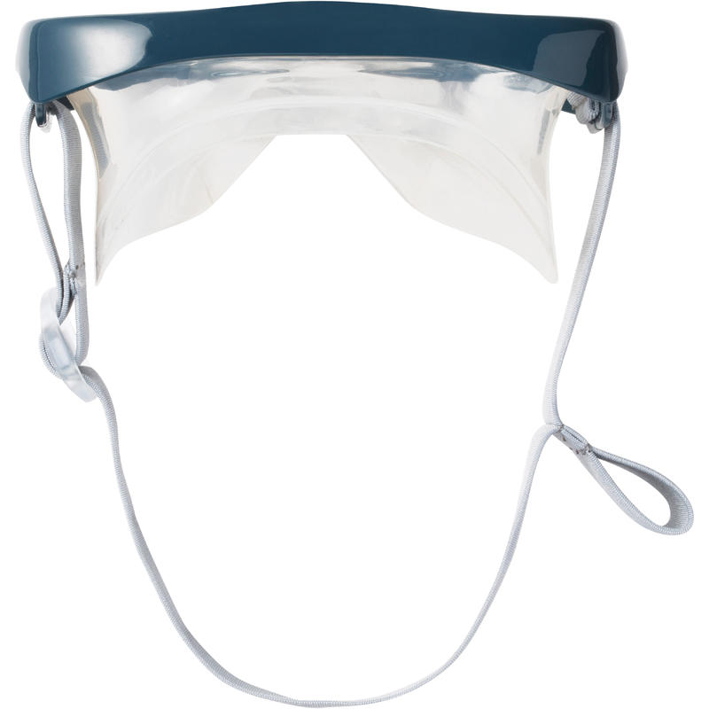 Kit máscara tubo de snorkel SNK 500 adulto y niños gris