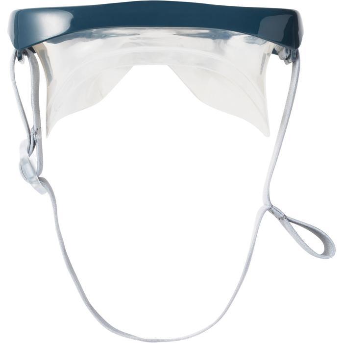 Set snorkelmasker SNK 500 grijs voor volwassenen en kinderen