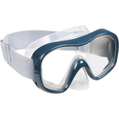 Adult and kids' diving snorkelling Mask and Snorkel kit SNK 500 - grey