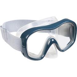 Set duikbril + snorkel SNK 500 voor kinderen en volwassenen, grijs
