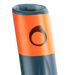 Kit masque tuba d'apnée freediving FRD100 gris pour adultes et enfants
