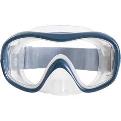 Kit masque tuba de snorkeling SNK 500 adulte et enfant gris
