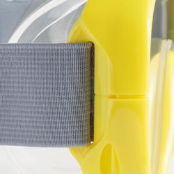 Kit masque tuba d'apnée freediving FRD100 jaune pour adultes et enfants