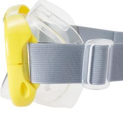 Snorkelset duikbril + snorkel FRD100 volwassenen en kinderen geel