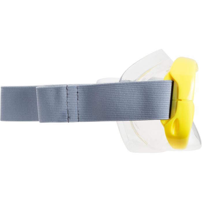 Snorkelset SNK 500 met duikbril en snorkel, kinderen en volwassenen geel