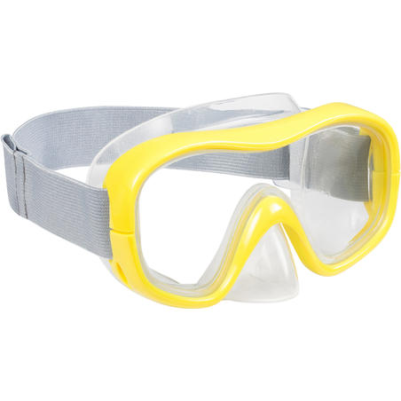 FRD100 freediving snorkel mask kit for adults and children yellow