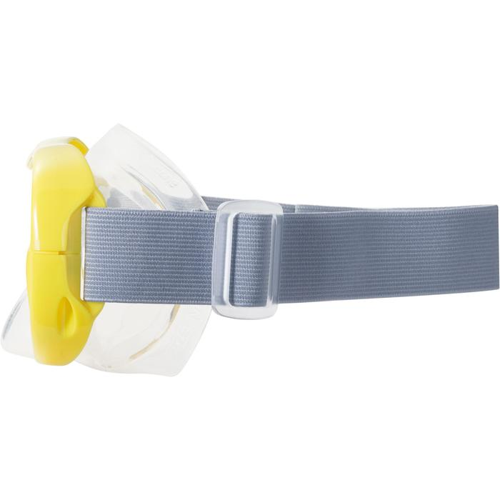 Schnorchel-Set Freediving FRD100 Erwachsene/Kinder gelb