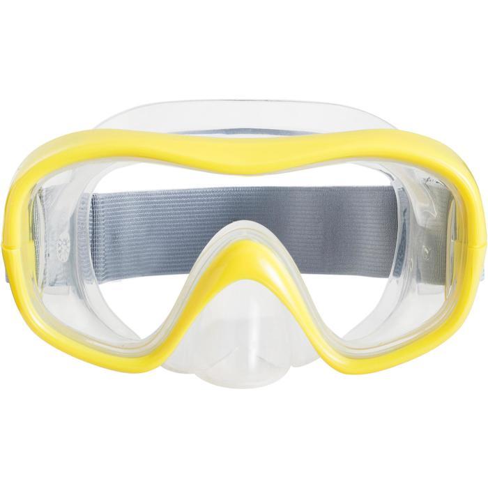 兒童款浮潛面鏡SNK 500-黃色