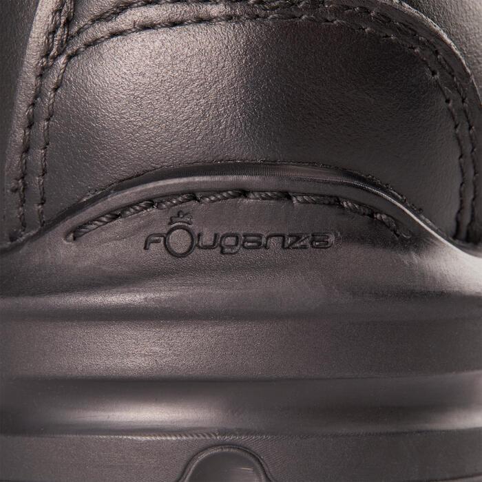 Reitstiefel LB 900 Leder Erwachsene schwarz