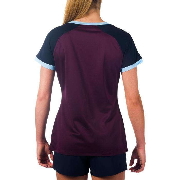 Maillot rugby R500 Femme Prune/Marine