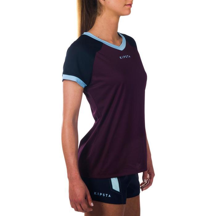 Rugbytrikot FH 500 Damen violett/marineblau