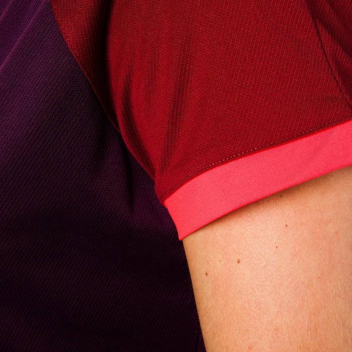 Rugbyshirt FH 500 voor dames pruim/bordeaux