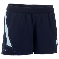 Rugbyshorts R500 Damen marineblau/hellblau
