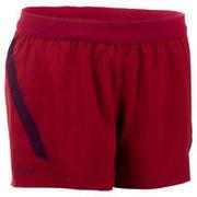 Pantalón corto de rugby FH 500 para mujer burdeos/ciruela