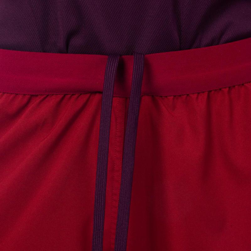 Pantalón corto de rugby FH 500 para mujer burdeo/ciruela