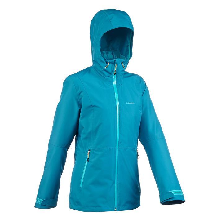 Veste trekking Rainwarm 500 3en1 femme bleu