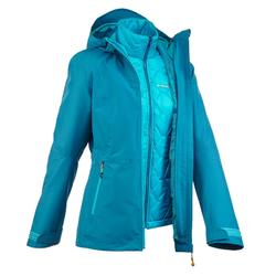 Veste trekking Rainwarm 500 3en1 femme