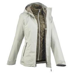 3-in-1 damesjas voor trekking Rainwarm 500