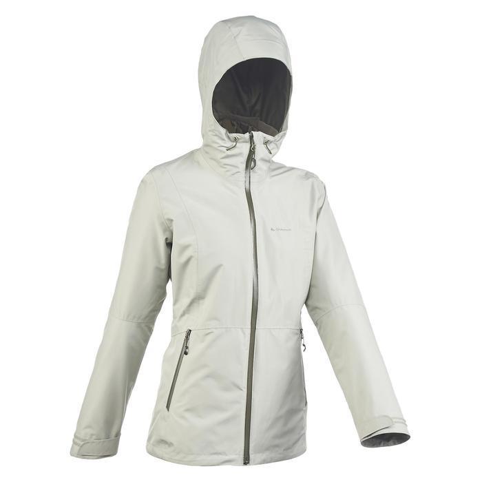 Veste trekking Rainwarm 500 3en1 femme kaki