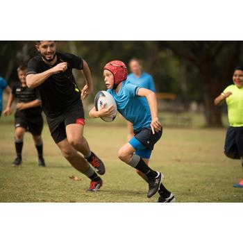 Rugbyshorts R100 Kinder schwarz