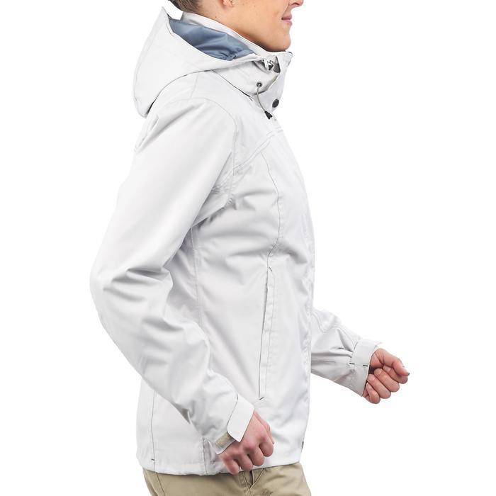 3-in-1 damesjas voor trekking Rainwarm 100 wit