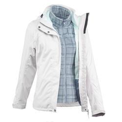防雨保暖 100 女性 3合1徒步旅行夾克 - 紫色