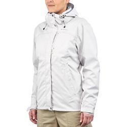 Chaqueta trekking Rainwarm 100 3 en 1 mujer blanco